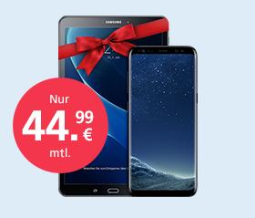 Samsung Galaxy S8 + GRATIS Tab mit o2 Free M